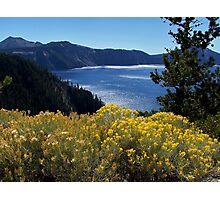 Fall glory at Crater Lake Photographic Print