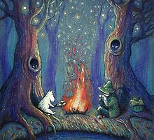 Moomin's night by illustore
