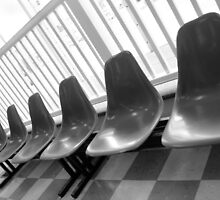 Chairs at the Laundromat by vvfineartphotog
