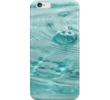 Blue water drops ripples iPhone Case/Skin