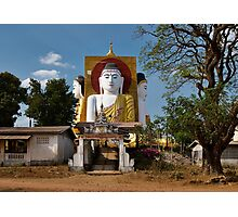 four sitting Buddhas 30 metres high looking in four points of the compass at Kyaikpun Pagoda Photographic Print