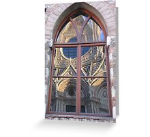 Siena Cathedral reflected Greeting Card