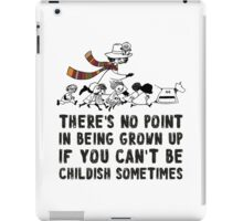 DOCTOR WHO MOOMINS NO POINT IN GROWN UP iPad Case/Skin