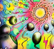 An Occular Flagellae Shoal gravitating towards a Nuclear Generator a.k.a. 'I am a Fissure of Semen' by Speedballs