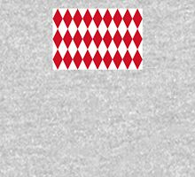 Lozenge Flag of Monaco Design  Unisex T-Shirt