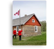 The Flag Raising, Canada Day 2010 Canvas Print