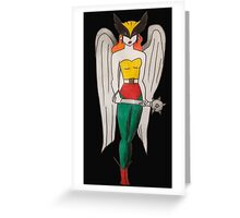Hawkgirl Greeting Card