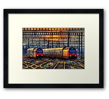 Sunset at Zurich Main Station III Framed Print