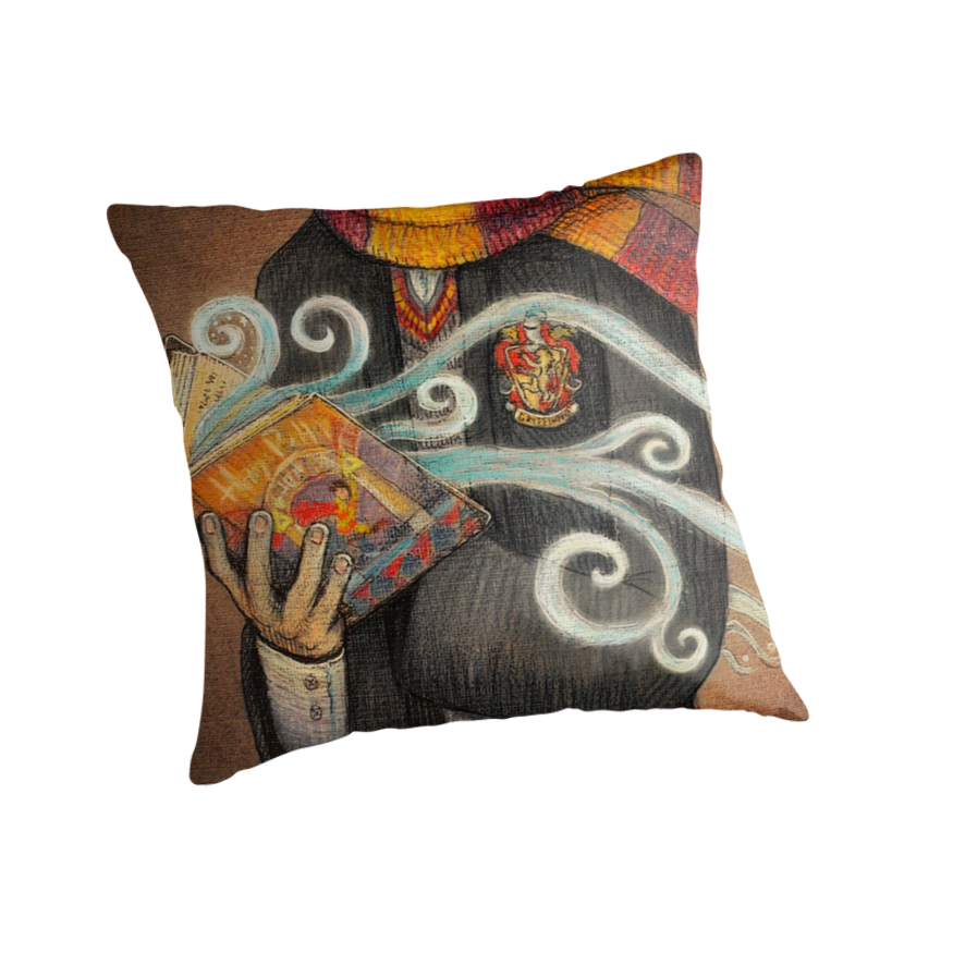 This is on my Wish List: Harry Potter Books Magic Throw Pillows