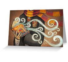 Harry Potter Books Magic Greeting Card