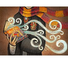 Harry Potter Books Magic Photographic Print