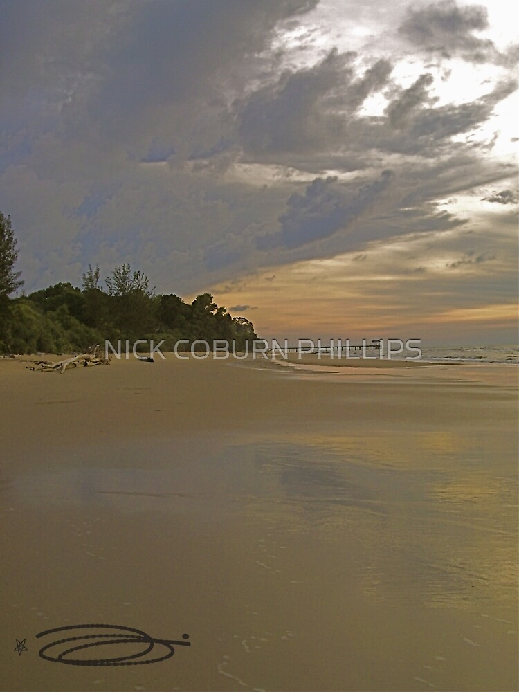 Moody Reflections ~ Crocodile Beach, Borneo. by NICK COBURN PHILLIPS