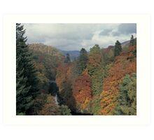 Killiekrankie in autumn, Perthshire Art Print