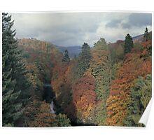 Killiekrankie in autumn, Perthshire Poster