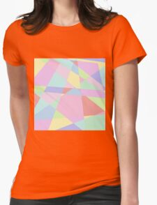 Pastel Mess Womens Fitted T-Shirt