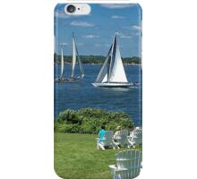 Watching the World Sail By iPhone Case/Skin