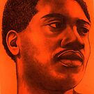 Otis Redding celebrity portrait by Margaret Sanderson