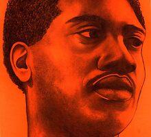 Otis Redding celebrity portrait by Margaret Sanderson