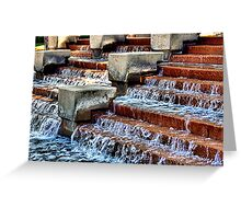 Water Stepping Greeting Card