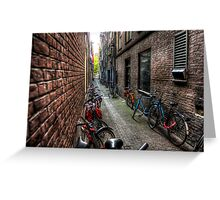 Amsterdam: Bikes and bikes and bikes... Greeting Card