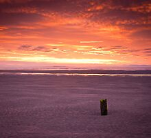 Fire in the sky at Findhorn II by Christopher Thomson