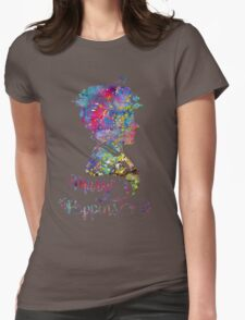 Mary Poppins Portrait Silhouette Watercolor  T-Shirt