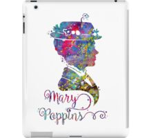 Mary Poppins Portrait Silhouette Watercolor  iPad Case/Skin