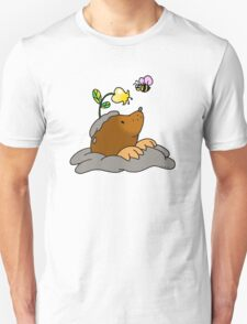 Cute mole with a honey bee T-Shirt