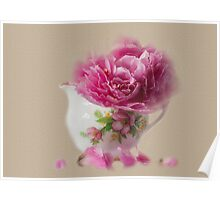 Little jug and peony Poster