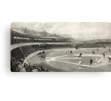 Vintage Baseball Game Canvas Print