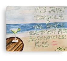 Dirty Heads Lay Me Down Quote Painting Canvas Print