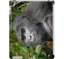 portraet of a silverback mountain gorilla, Bwindi, Uganda iPad Case/Skin