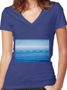 Early Morning Blues Women's Fitted V-Neck T-Shirt