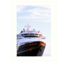 Disney Cruise Ship at Key West Florida Art Print