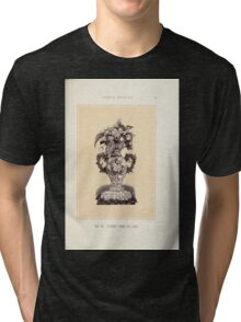 Floral Designs Series I a hand book for cut flower workers and florists John Horace McFarland 1888 0073 Floral Vase or Urn Tri-blend T-Shirt