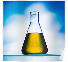 eco fuel in Erlenmeyer flask  Poster