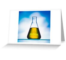 eco fuel in Erlenmeyer flask  Greeting Card