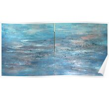 Abstract sea scape Poster