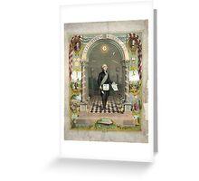 George Washington as a Freemason Greeting Card