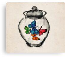 Jar of Butterflies Canvas Print