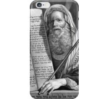 Moses and the Ten Commandments iPhone Case/Skin