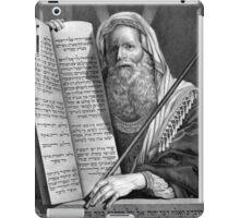 Moses and the Ten Commandments iPad Case/Skin