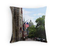 Downtown Harrisburg Throw Pillow