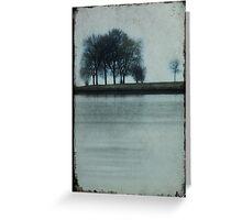 Lakeside Trees Greeting Card