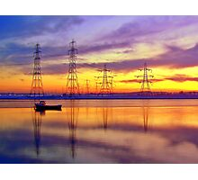 Sunset Over Alloa Harbour. Photographic Print