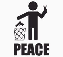Peace lets say no to guns by funnyshirts