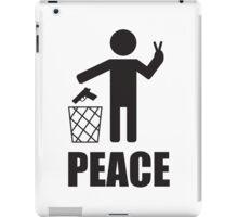 Peace lets say no to guns iPad Case/Skin