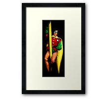 Robin Action Figure Framed Print