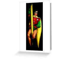 Robin Action Figure Greeting Card