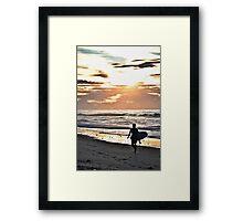 Old Bar Surfer Framed Print